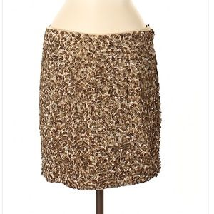 Vince Champagne Sequin Formal Skirt Size 6 BLING